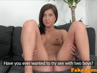 Fake Agent Petite brunette really wants casting couch fuck