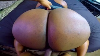 Screen Capture of Video Titled: Ass So Big Had To Cum All Over It