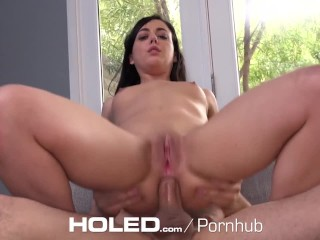 HOLED Petite Whitney Wright tries to fit big dick in her tight asshole