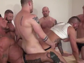 Shay Michaels in Daddy Gang fuck!