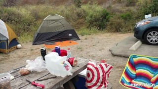Screen Capture of Video Titled: Caught Fucking Hard In Friends Tent Camping