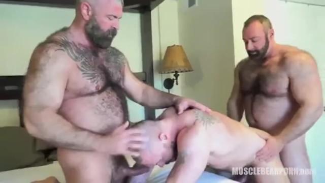 Hairy threesome men rough bareback breeding pornhub Bear Threesome Pornhub Com