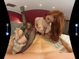 BaDoink VR Vinna Reed and Isabella Lui Sharing Your Dick On VR Porn