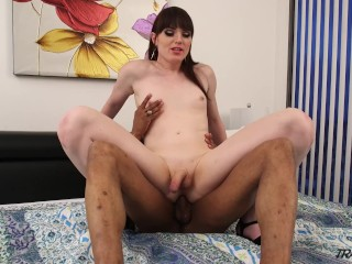 TS Natalie Mars hot interracial scene
