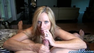 Jodi West in StepMother's Welcome Home HandJob