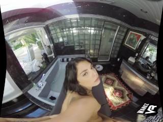 WankzVR – In the Bathtub ft. Gina Valentina