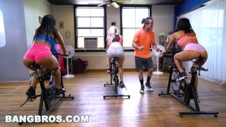 Screen Capture of Video Titled: BANGBROS - Curvy Latina Rose Monroe Fucked in Spin Class by Brick Danger