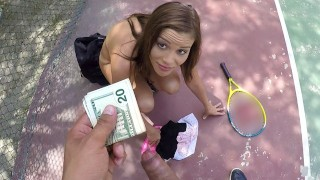 teenslovemoney- sexy tennis player nails for free lesson – teen porn