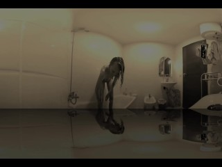 Dream Girl takes to the bathroom dream 360 VR