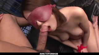 Yuna Satsuki gets hevy cock to bang her furry pussy