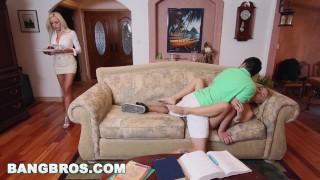 Screen Capture of Video Titled: BANGBROS - Stepmom Nina Elle Has Threesome With Natalia Starr