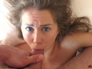 BEAUTY WAKES UP FROM THE DICK IN HER MOUTH. MIA BANDINI