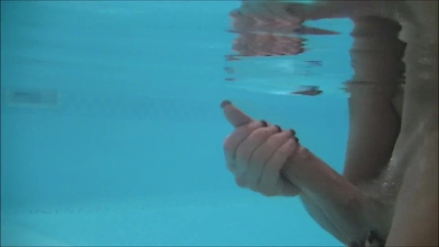 3 Underwater Handjobs in Pool with Cumshots