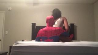 Spider Man fucks Big Booty Ebony