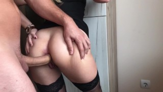 Screen Capture of Video Titled: Blonde Teen gets Crazy for Extreme Deep ANAL, GAPE and CREAM