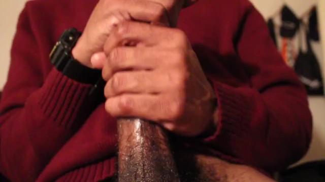 Stroking Big Black Dick Solo