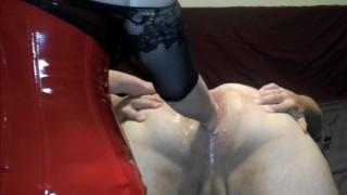 Anal Fisting Male Slave Femdom J-Lube First