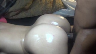 Big butt wife get's pounded while husband gone & get's cumshot on ass!