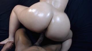 Fucking my boys littleslut doggy style, cumshot on bubble butt!