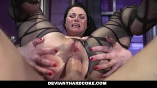 Screen Capture of Video Titled: Deviant Hardcore - Submissive Whore Veruca James Fucked In The Ass