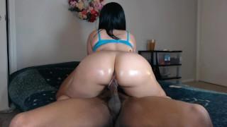 Screen Capture of Video Titled: Fucking my neighbors slut wife w/ beautiful ass!