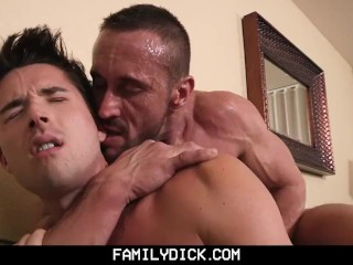FamilyDick – Angry  muscle stepdad barebacks his pretty boy son