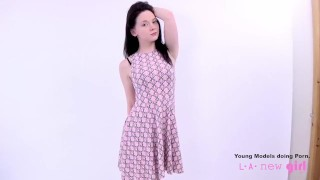 Screen Capture of Video Titled: Teen fucked at photoshoot casting audition
