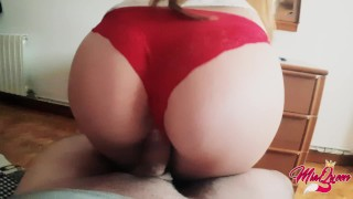 Clip She needs FUCK HIM before go to work - Amateur Sex / Creampie !!!!!!!