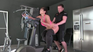 Screen Capture of Video Titled: FUCKED BY MY PERSONAL TRAINER IN THE GYM XXX