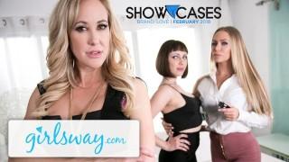 Girlsway Brandi Love & Nicole Aniston's Lesbian Power Play!