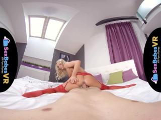 SexBabesVR – Red Stockings with Victoria Pure
