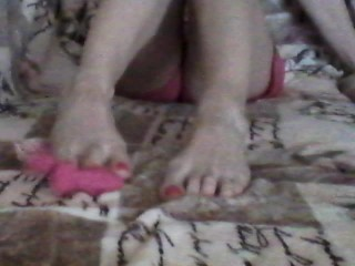 FEET SOLES and Play with my pink Ramsey Rabbit