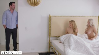 Screen Capture of Video Titled: VIXEN Two Curvy Roommates Seduce and Fuck Married Neighbor