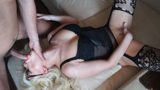 Sexy Secretary in Glasses Likes to Fuck with The Boss