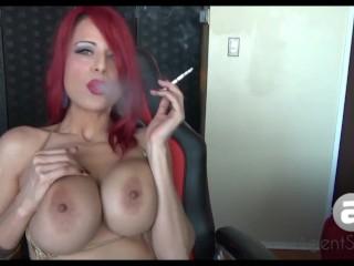 Sexy Sandi Smoking in Bikini