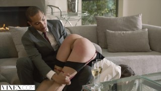 Screen Capture of Video Titled: VIXEN Seductive Real Estate Agent Gets used