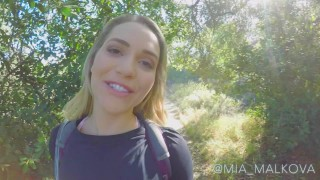 Mia Malkova Gets of on Public Hike