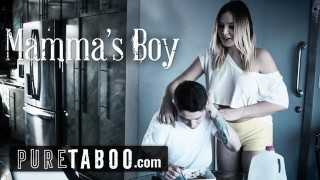 Screen Capture of Video Titled: PURE TABOO Blair Williams Tricks Momma's Boy StepBro into Fucking!