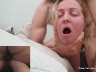 Pretty girl Has Her Pussy Fucked Full of Cum By Older Man