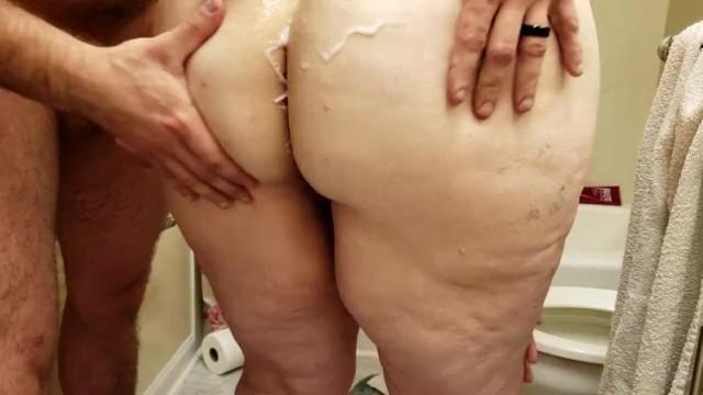 Frau hinten fette von Fette Frau
