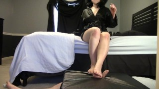 Cock Box Trampling CBT and Barefoot FemDom