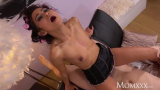 MOM Mature Thai landlady Suzie Q demands ass licking and hard fuck