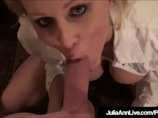 Busty Gorgeous Milf Julia Ann Titty Fucks A Lucky Cock!