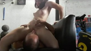 Screen Capture of Video Titled: Drink my Squirt and Fuck Me in the Gym!
