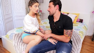Screen Capture of Video Titled: CUM4K Step dad sex education FUCK with CREAMPIE