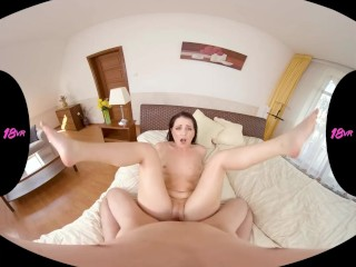18VR.com Christening Kittina Clairette's New Bedroom With Anal Fuck