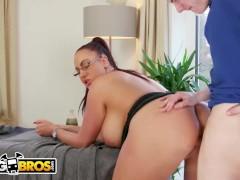 BANGBROS - Big Tits British Cougar Emma Butt Demands Massage From Step Son