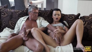 DADDY4K. Middle-aged man has fun with unsatisfied girlfriend