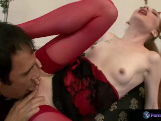 Pretty Luda gets nasty with a hard cock