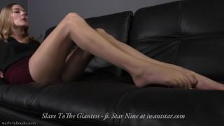 Slave to the Giantess - giantess foot domination smother ASMR - Trailer